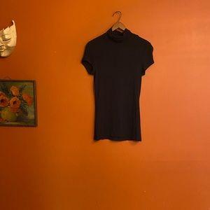 H&M minimalist fitted short sleeve turtleneck xs